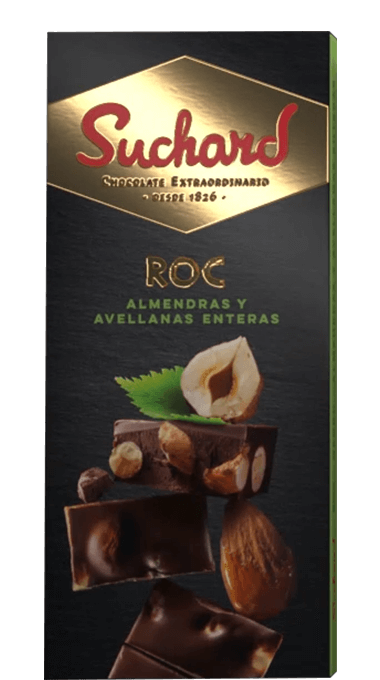 Suchard chocolate negro ROC con almendras y avellanas enteras