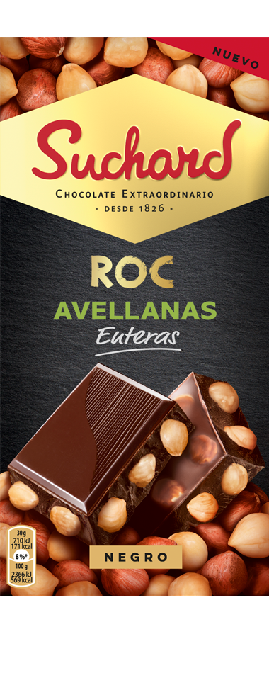 Chocolate Suchard ROC con Avellana enteras